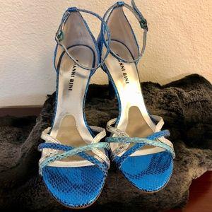 EUC!! Gianni Bini *Electric Blue* Shiny Heels